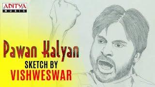 Pawan Kalyan Sketch by Vishweswar - Fan Made