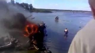 Первое видео с места падения Як-42 под Ярославлем