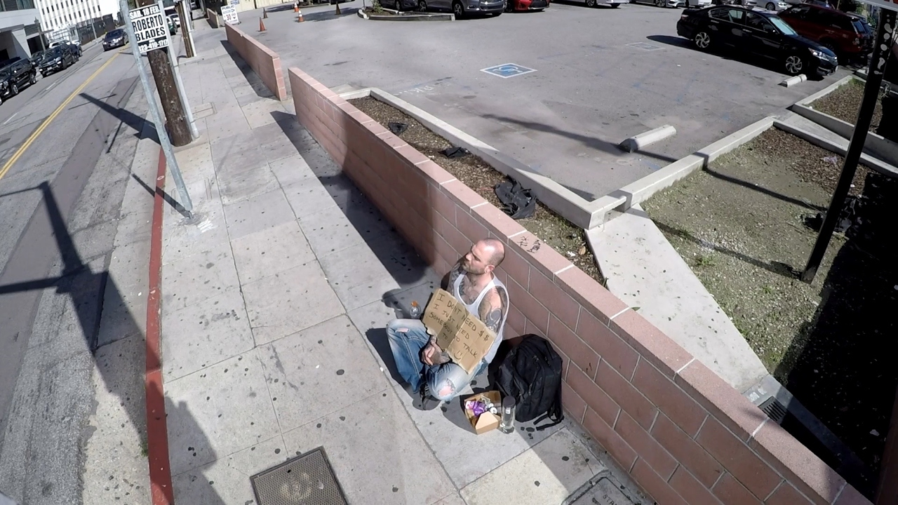 Millionaire Goes Homeless To Find Someone To Take To The Grammy's