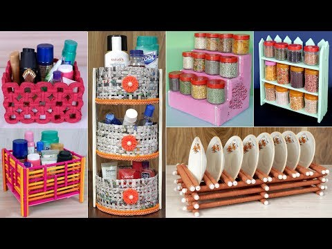10 DIY Home And Kitchen Organization Idea !!! Handmade Things