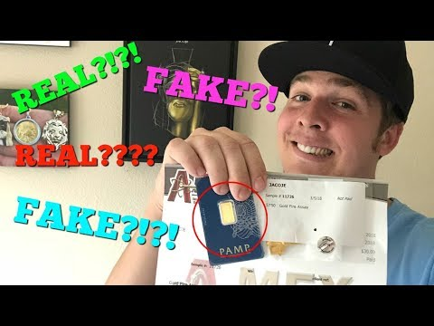 APMEX GOLD BAR TESTED! REAL OR FAKE?!