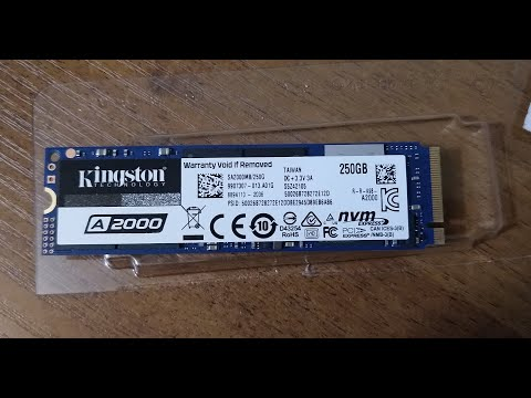 Kingston A2000 250GB NVMe M.2 2280 PCIe 3.0 x4 3D NAND TLC (SA2000M8/250G)