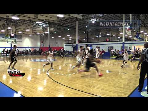 Indiana Elite Magic, 2 Kiante  Enis with nice take and Dunk