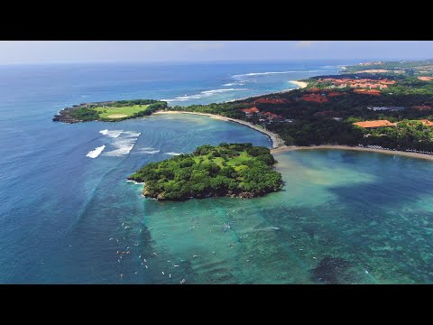 🇮🇩 Nusa Dua and Benoa beaches + Best Bali's beach, Indonesia [4K Ultra HD video from drone and land]