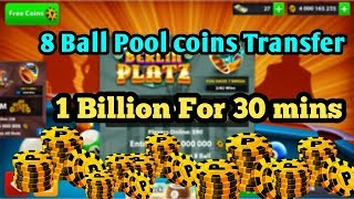 8 Ball Pool Coins Transfer Trick  |