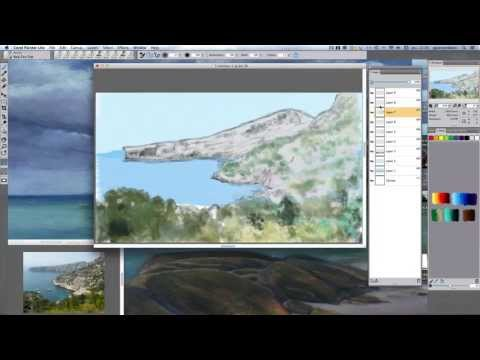 """Digital painting """"calanques of Marseille"""""""