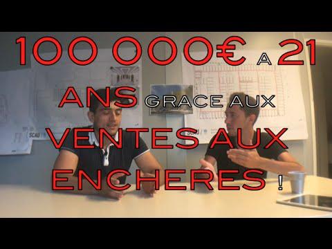 100 000€ à 21 ans grâce aux VENTES AUX ENCHERES
