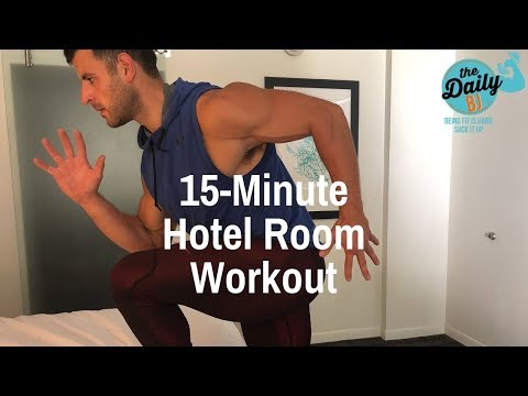 15-MINUTE BEDROOM FAT-BLASTER! | BJ Gaddour Hotel Room Workout