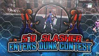 5'9 MIDGET SLASHER ENTERS A PARK DUNK CONTEST! NATE ROBINSON WINS ANOTHER DUNK CONTEST?! NBA 2K18