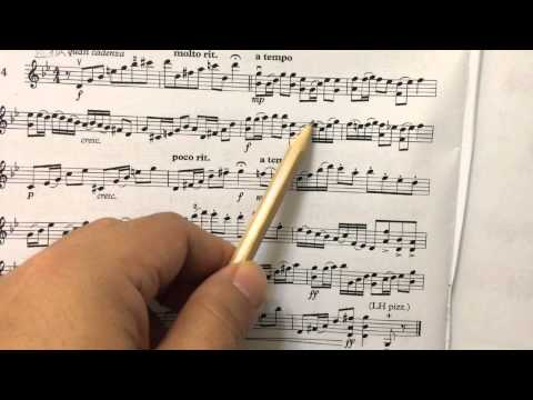 Grade 8 violin sight-reading lesson 1