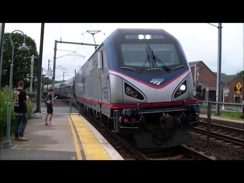 Train-Spotting: Amtrak: Northeast Regional Trains at Mystic, CT