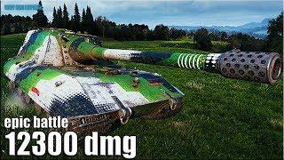 НЕМЕЦКАЯ ПТ-САУ ВО ВСЕЙ КРАСЕ 🌟 12300 dmg 🌟 World of Tanks лучший бой Jagdpanzer E 100