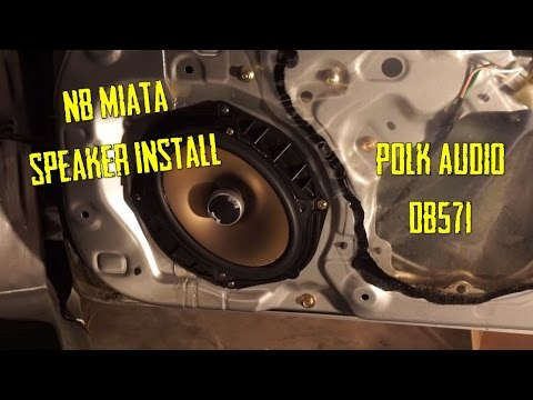 nb miata speaker install polk db571 youtube. Black Bedroom Furniture Sets. Home Design Ideas