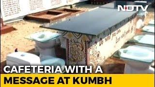 """At Kumbh Mela 2019, Unique """"Toilet Cafeteria"""" A Big Draw."""