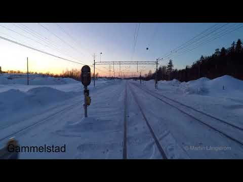 Hyttåkning mellan Luleå & Boden - Cab ride Malmbanan Luleå - Boden