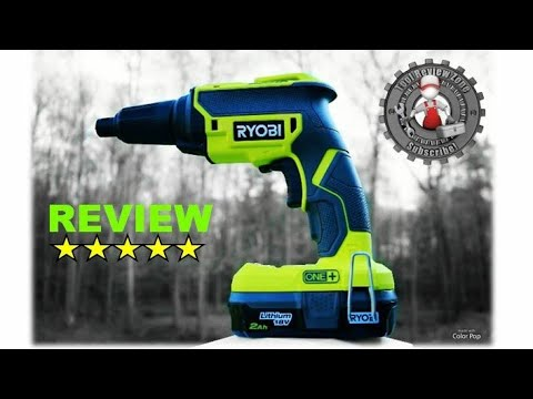 All New Ryobi 18v Brushless Drywall Screw Gun Review and Tutorial (P225)
