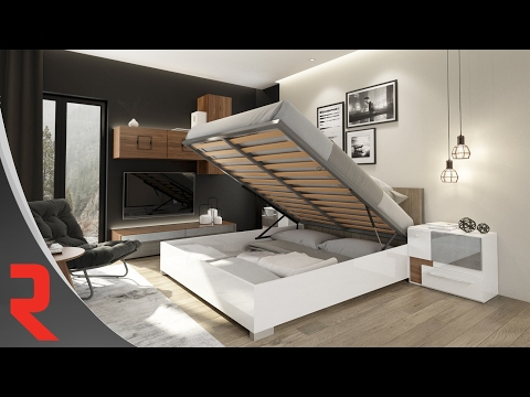 Lifting Mechanism for Beds with Integrated Storage