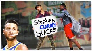STEPHEN CURRY SUCKS **Prank**