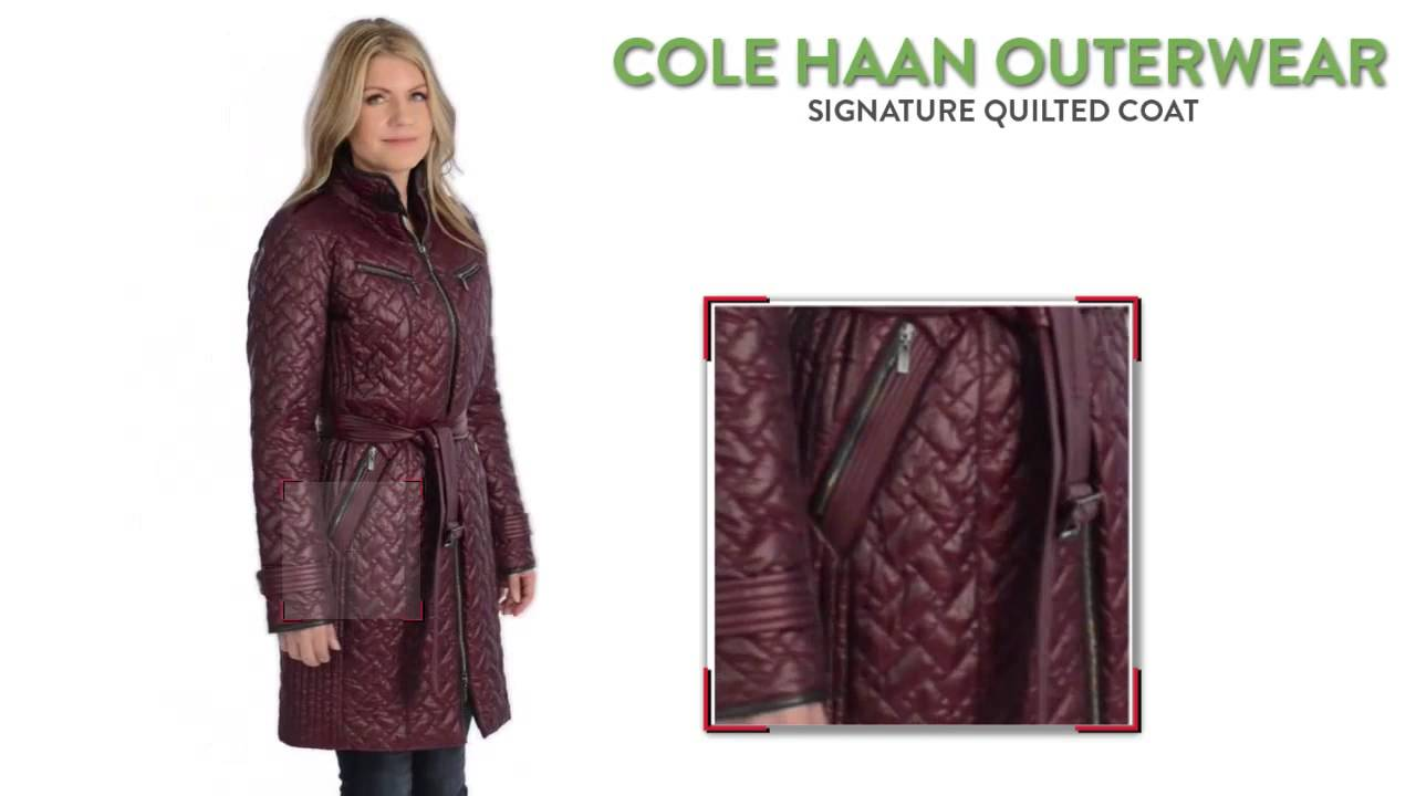 Cole Haan Outerwear Signature Quilted Coat For Women Youtube