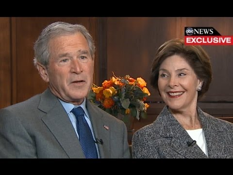 George W. Bush Interview 2013: President, Former First Lady Laura Bush Speak with Diane Sawyer