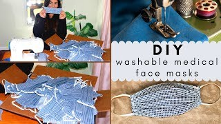 How to Sew MEDICAL FACE MASK at Home (Beginner Friendly Tutorial)