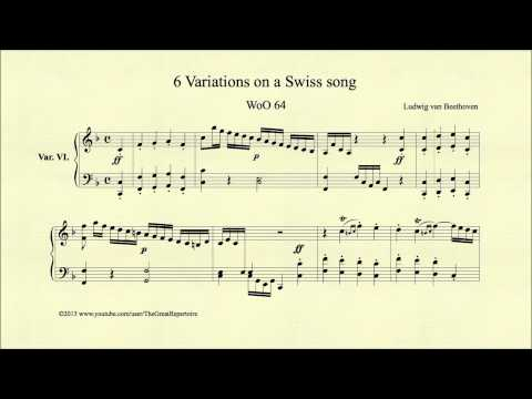 Beethoven, 6 Variations On A Swiss Song, WoO 64, Var. VI