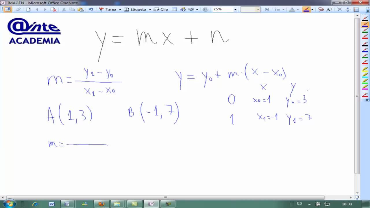�yf�y��y�'��(y�n_EcuaciondelarectaOrdenadaenorigeny=mx+nMatematicas3ESOAINTE-YouTube