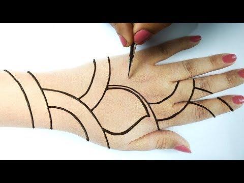 Easy Trick Mehndi With dots- आसान गोल टिक्की मेहँदी लगाना सीखे -New Stylish Front Hand Mehndi Design