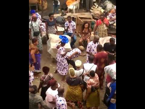 Two mad woman dancing science students by olamide in the market