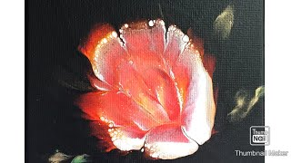 (346) Acrylic Flower Dips Pour Painting