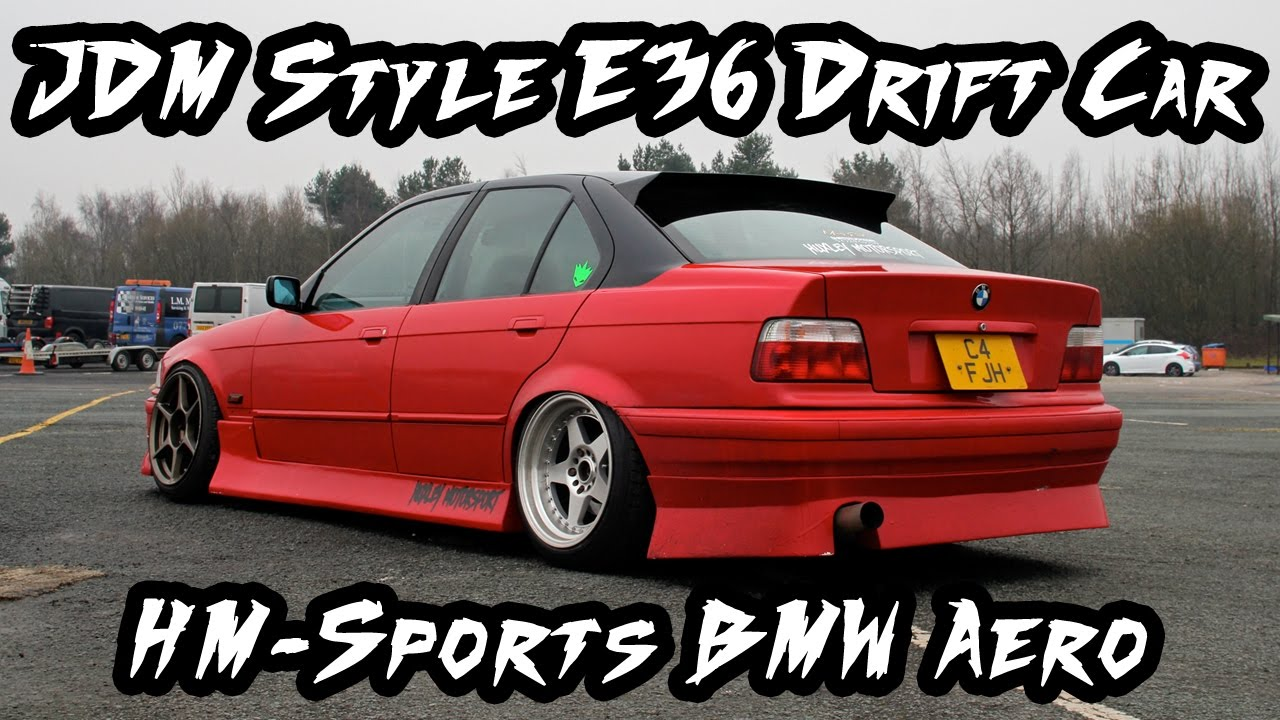 Jdm style bmw e36 drift car with hm sports aero youtube for Bmw living style