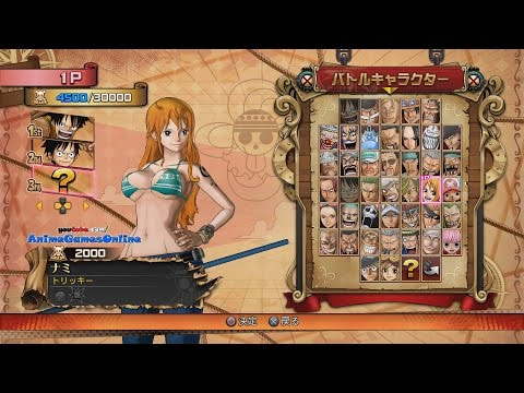 One Piece Burning Blood All Characters (Playable & Support), Costumes, & Stages