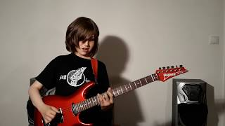 """Dustin Tomsen 13 yr old covers """"Shapes Of Things"""" (Gary Moore's """"We Want Moore! live"""" version)"""