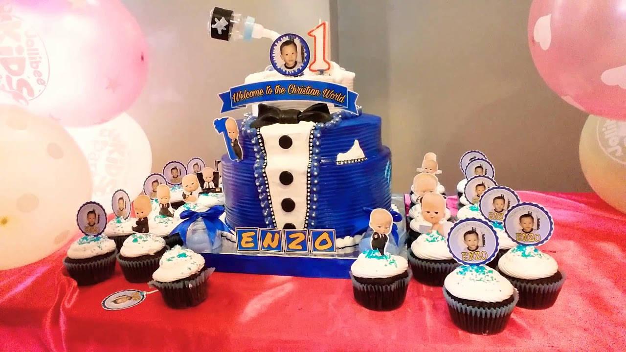 Enzo Kin Mendez 1st Boss Baby Bday Cake From My Chef Joey