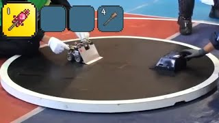 robots using the rod of discord (terraria meme)
