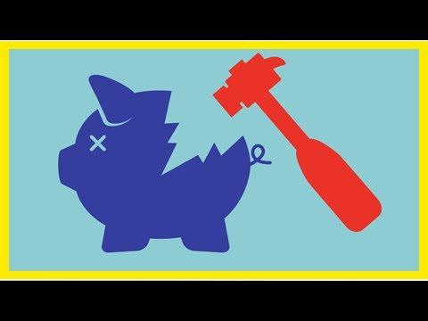 The State legislature find red blue piggy bank