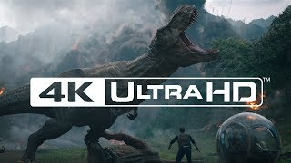 "Jurassic World Fallen Kingdom | ""Chris Pratt in Dinosaur Stampede"" Scene in 4K Ultra HD"