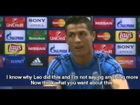 Cristiano Ronaldo leaving press conference full interview HD