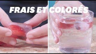 Pendant la canicule, voici la recette idéale de glaçons pour colorer vos apéritifs