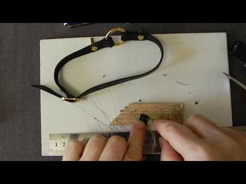 Украшение: чокер из кожи 2 часть кратко изготовление (браслет, ошейник)