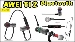 Awei t12 крутые bluetooth наушники за 12$.