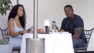 Bodybuilder Simeon Panda And Longtime Girlfriend Chanel Brown Grab Lunch At Il Pastaio