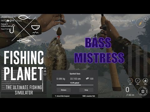 """Fishing Planet - Texas - 6 Spotted Bass in 10 minutes - my """"secret"""" spot."""