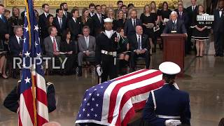 USA: Pence pays tribute to 'standard-setting' president George H.W. Bush