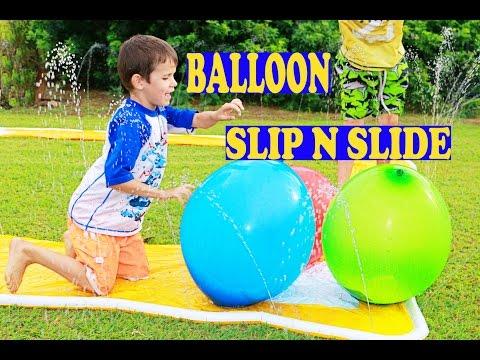 WORLD'S BEST SURPRISE GIANT BALLOON Slip N Slide! Balloon Pop PARTY ORBEEZ Candy Surprise Eggs