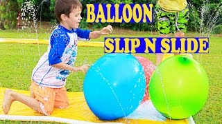 WORLD'S BEST SURPRISE GIANT BALLOON Slip N Slide! Balloon Pop PARTY ORBEEZ Candy Surprise Eggs
