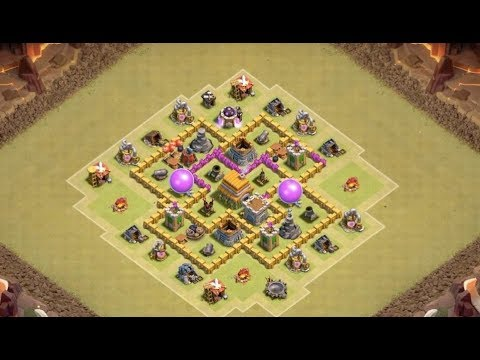 Coc Th6 War Base Base Th 6 Terkuat Anti Bintang 3 2018 10