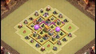 Clash of Clans Town Hall 6 (TH6) War Base 2018   CoC (TH6) Anti 3 Stars   Anti Giant, Anti Balloons