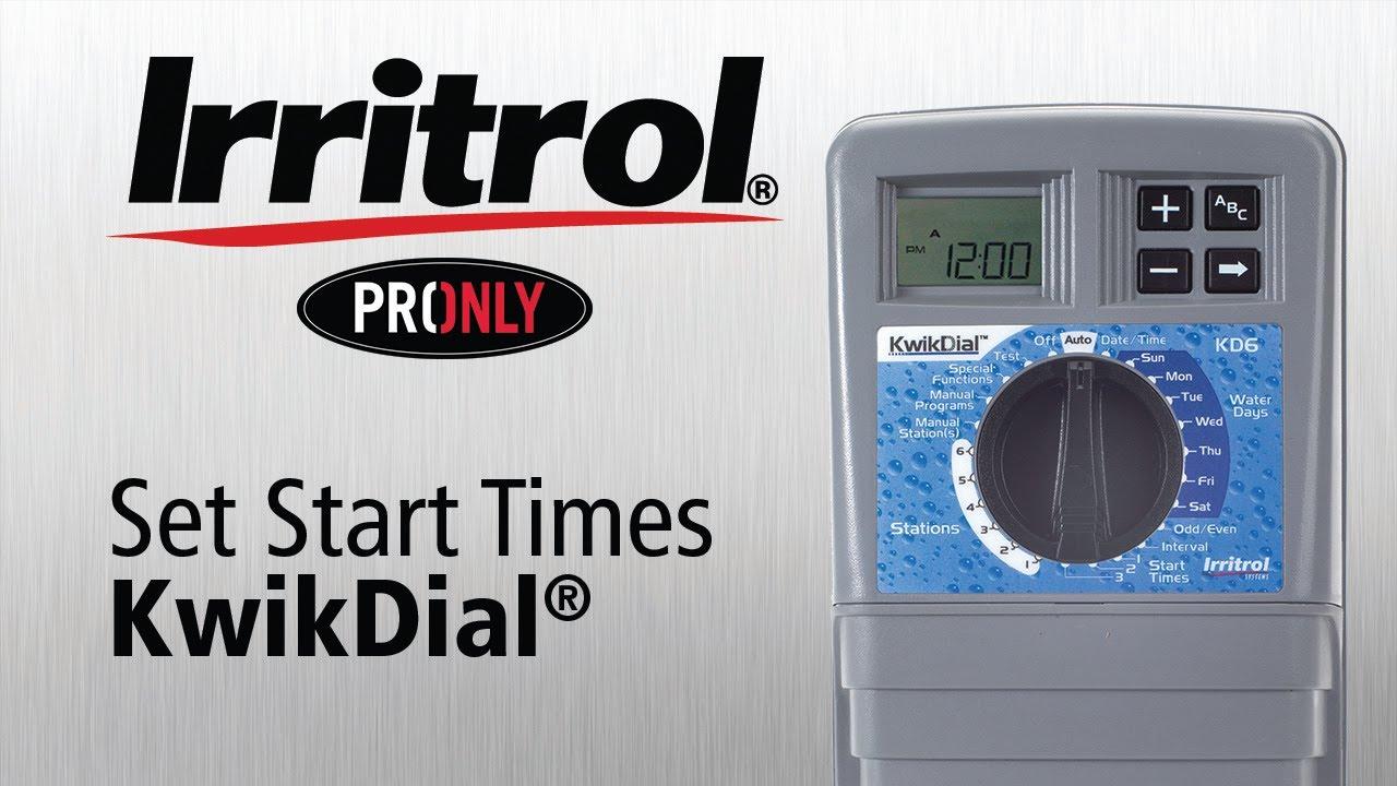 Irritrol Kwik Dial 4 Station Indoor Irrigation Controller ...