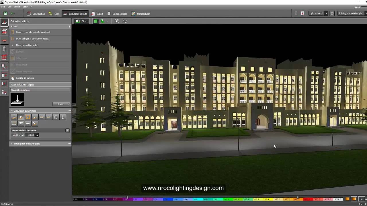 Facade and road lighting calculations combined by nelca roco